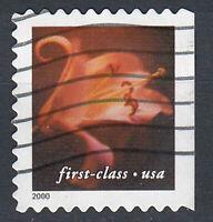 USA Briefmarke gestempelt First-Class Blume aus Markenheft Jahrgang 2000 / 712