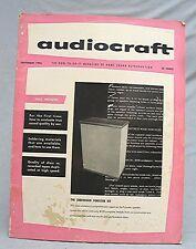 Vintage September 1956 Magazine -- Audiocraft
