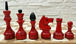 Tournament weighted chess set Soviet russian wooden chess Vintage chess USSR