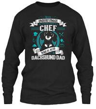 Dachshund Chef Dad T S Gildan Long Sleeve Tee T-Shirt