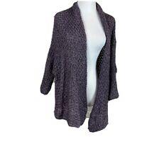 Elsamanda Made In Italy Women's Chunky Knit Wool Alpaca Cardigan Sweater Size M