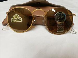 VINTAGE B&L RAY BAN W1911 MIRROR B15 DIAMOND HARD  ROUND SUNGLASSES