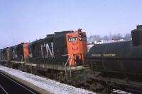 CN CANADIAN NATIONAL Railroad Locomotive 4463 MONTREAL QC Original Photo Slide
