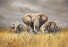 Charles Frace POWER OF THE SERENGETI Signed & Numberred w/coa Elephant Art Print