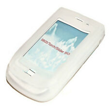 Silicona TPU Cover Case Handy para blackberry 9800 Torch en blanco