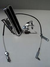 Billet Aluminum Floor Mount Gas Pedal / Black Throttle Cable / Bracket Spring