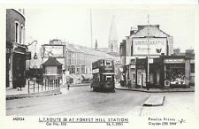 Transport Postcard- Tram - L.T. Route 58 At Forest Hill Station in 1951 - U698