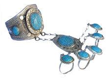 orient afghan nomaden tribal Armreif handschmuck Bracelet hand jewelry Türkis