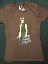 NWT Juniors XL Harry Potter Support Cedric Diggory Wand Robert Pattison T Shirt