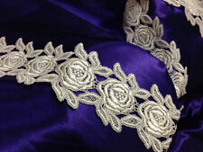 """2 Yards, Rose Lace Trim, Detailed Symmetrical, Great for the Border, 3"""" Inches"""