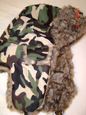 camo Trapper  Hat  Russian  Cossack Faux Fur Lined WARM