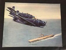 Vintage McDonnell Douglas Vendor Aircraft Print AD Skykraider