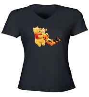 Winnie the Pooh Bear and Tigger Friend Gift Shirt Girl Juniors Tee T-Shirt S~2XL