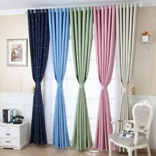 Shiny Silver Stars Blackout Curtains for Kids Child Bedroom Korean Style Curtain