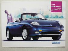 Prospekt Fiat Barchetta Naxos, 7.2001, 4 Seiten, zeigt Farben