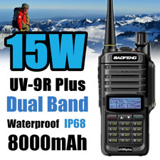 Baofeng UV-9R Plus Long Range Walkie Talkie VHF UHF Dual Band Handheld Radio !!!