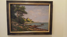 Carl Moller -Danish artist, original oil on canvas, signed and dated 1892
