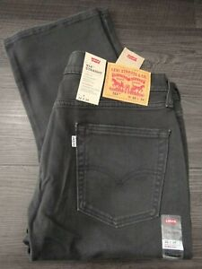 "LEVI'S : 514  Straight  Fit  Jeans  (Mens Waist 32"" / Leg 34"" / Black) *New**"