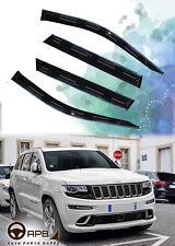 For Jeep Grand Cherokee 11-18 Chrome Trim Window Visor Guard Vent Deflector