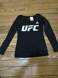 NWT Reebok UFC (Ultimate Fighting Championship) Long Sleeve Black Shirt - Size S
