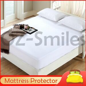 Mattress Protector Fitted Sheet Cover Waterproof Single/Double/Queen/King/Pillow
