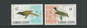 SAMOA 1969 BIRDS set 2 top values only (Scott 274a-274b) VF MH