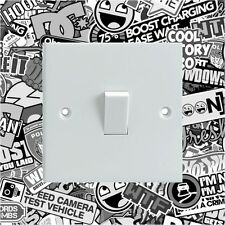 Sticker Bomb Black & White Light Switch Surround Printed Vinyl Wall Sticker