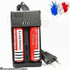 CHARGEUR RS-93 + 2 PILES ACCU RECHARGEABLE 18650 3.7v 5000mAH BATTERY BATTERIE