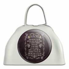 Ode To Wine Toast Funny Humor White Metal Cowbell Cow Bell Instrument