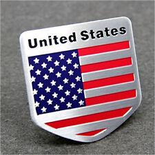 Car Door/Fenders/Tailgate 100%Metal American Flag Shield USA Logo Sticker Badge