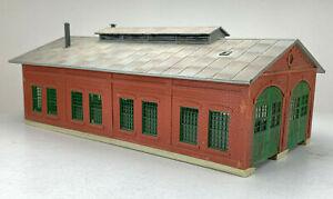 HO HOn3 Hon30 Brick Engine House Structure Built up IC162