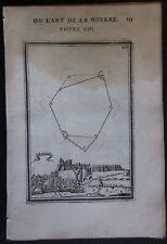 1684 ORANGES vue gravure Alain Manesson Mallet fortifications Orange Vaucluse