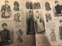 1890 + 1891 - La mode illustrée - fashion RETRO vintage - rare (416 pages!!!)