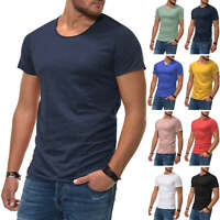 Jack & Jones Herren T-Shirt Kurzarmshirt Shirt Casual Stretch Basic SALE %