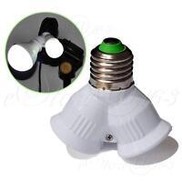 """1To2 E27 LED Lamp Bulb Splitter Screw Holder Light Base Adapter """"Y"""" Converter"""