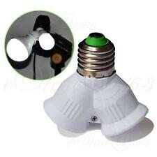 "1To2 E27 LED Lamp Bulb Splitter Screw Holder Light Base Adapter ""Y"" Converter"