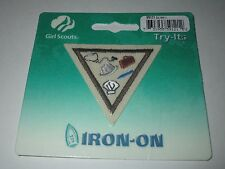 Girl Scout Brownie Iron On Badge ~  Careers #59121 **NEW**