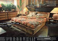 Publicité Advertising 028  1985   Roche-Bobois  (2p) chambre coucher Coloniales