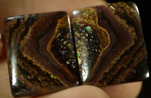 """Boulder Opal (pair) Australian natural solid 32.51 ct DON""""T MISS OUT"""