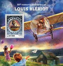 Sierra Leone 2016 MNH Louis Bleriot 80th Memorial 1v S/S Aviation Stamps
