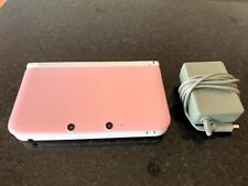 Nintendo 3DS XL Pink / White Console w/ Charger & SD Card, TESTED GREAT!