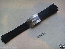 ORIS CAOUTCHOUC Aquis Diver RUBBER band 42634 strap bracelet S/St'l CLASP buckle