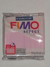 Pain de pâte fimo effect rose (couleur pastel) N°205, poids:57g