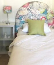 FUN BEDHEADS King Single Size Arch Floral Upholstered Bedhead