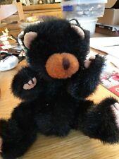 "TY Attic Treasure ""IVAN"" the Black TEDDY BEAR #6029  8"" PLUSH. Lovely"
