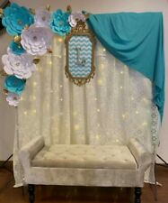 """9 HANDMADE GIANT 18"""" PAPER FLOWERS PHOTO BACKDROP  FULLY ASSEMBLED MADE IN USA"""