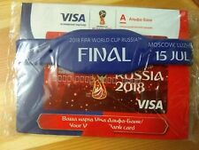 Final FIFA WORLD CUP 2018 bank card and bracelet, rare