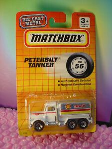 Vintge PETERBILT TANKER truck mb56 white; SHELL oil 1993 Matchbox