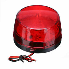 LED Car Bus Beacon Strobe Emergency Warning Alarm Flash Light Red Signal DC 12V