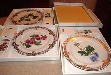 "Andrea Sadek Golden Botanical 10.5"" Rinka Cake Plate / Server Mib 3 Patterns"